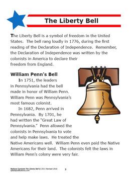 Liberty Bell National Symbols Interactive Notebook Unit