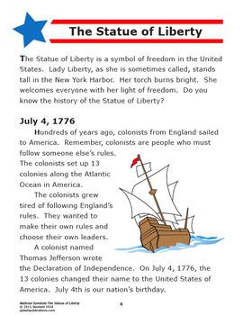 Statue of Liberty–National Symbols Interactive Unit + Statue of Liberty Craft
