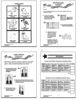 Statue of Liberty National Symbols Interactive Notebook Unit