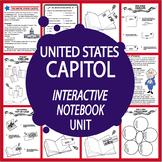 U.S. Capitol Interactive National Symbols Unit + United States Congress Lesson