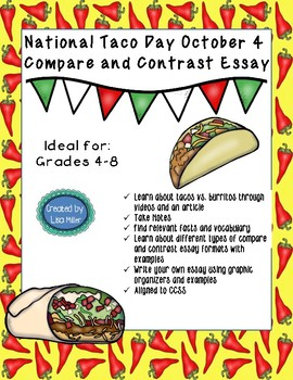 National Taco Day Compare and Contrast Essay ~October 4th