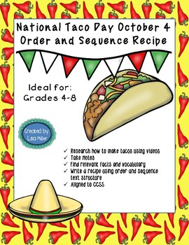 National Taco Day Order and Sequence Recipe ~October 4th