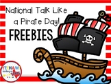 National Talk Like a Pirate Day Freebie
