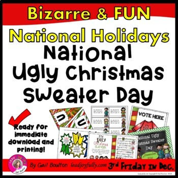 National Ugly Christmas Sweater Day December 20th Tpt