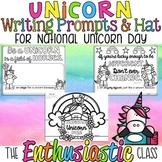 National Unicorn Day Writing Prompts & Hat FREEBIE