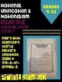 National Unification and Nationalism Reading Guide (World History- Glencoe)