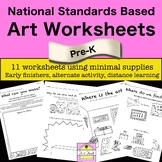 National Visual Art Standards Based Art Worksheets for Pre-K