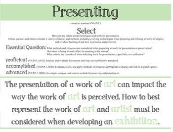 National Visual Art Standards - Presenting - Pack: High School Art Education