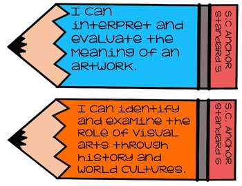 "National Visual Arts & SC 2017 Visual Arts Standards ""I Can"" Statements"