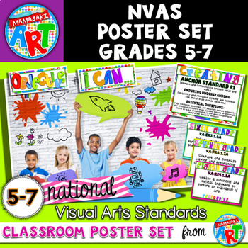National Visual Arts Standards Classroom Poster Set for Grades 5-8