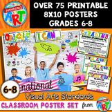 National Visual Arts Standards Classroom Poster Set for Grades 6-8