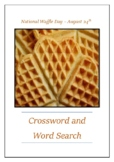 National Waffle Day - August 24th Crossword Puzzle Word Search Bell Ringer