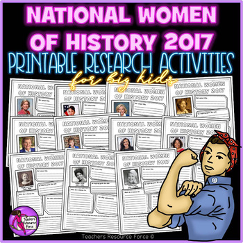 Women of History 2017 Printable Research Pages