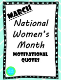 National Women's Month - Quotes From Famous Women