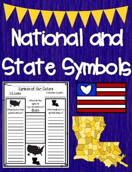 National and Louisiana State Symbols H-Chart Graphic Organizer