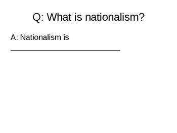 Nationalism - 23.1 Powerpoint - Nationalism