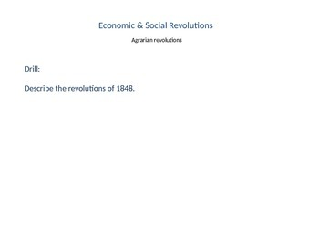 Nationalism 4- Agricultural Revolution- Industrial Revolution