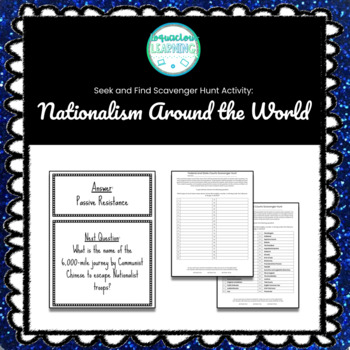 Customizable Nationalism Around the World Scavenger Hunt Style Review Game