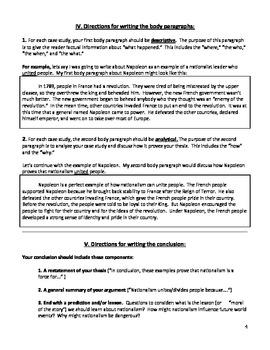 Nationalism - Essay Assignment