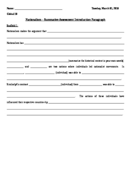 Nationalism Essay - Scaffold