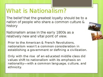 Nationalism Explained- Social Studies POWERPOINT