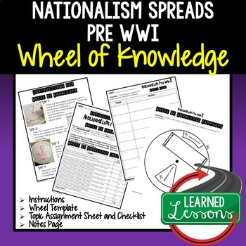 Nationalism Pre WWI Activity, Wheel of Knowledge (Interactive Notebook)