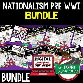 Nationalism Pre World War I Spreads BUNDLE (World History Bundle)