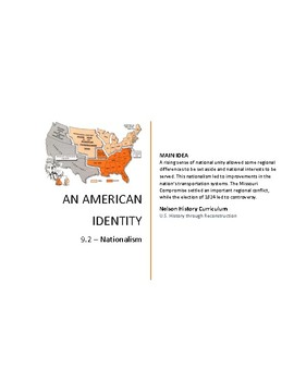 9.2 - Nationalism & Sectionalism