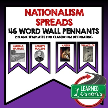 Nationalism Spreads Around the World Word Wall Pennants (W