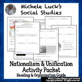 Nationalism & Unification Activity Packet World History