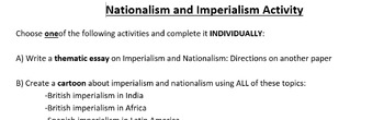 Nationalism and Imperialism Assignment