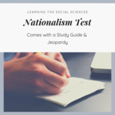 Nationalism and Nation-States Test, Study Guide, and Review Game