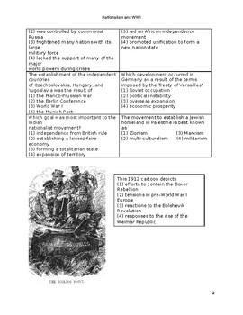 Nationalism and World War I