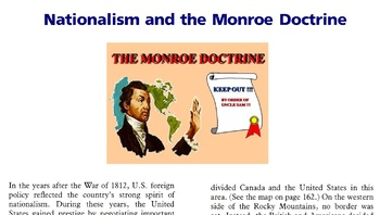 Nationalism and the Monroe Doctrine