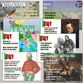 Nationalism and the Unification of Italy and Germany PowerPoint