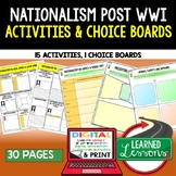 Nationalism in Asia, Africa, and Latin America Activities, Choice Board, Google