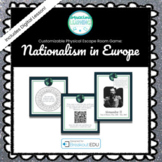 Nationalism in Europe Customizable Escape Room / Breakout Game