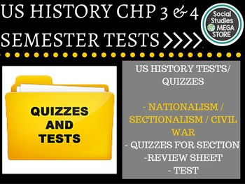 Nationalism to Sectionalism & Civil War US History Test an