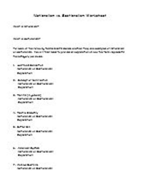 Nationalism vs. Sectionalism Worksheet