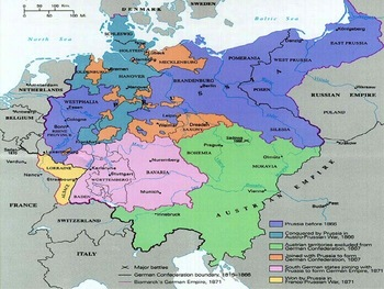 Unification Of Germany Full Lesson WClose Read And Activity - Germany map full
