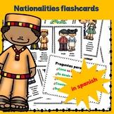 Nationalities Flashcards in Spanish