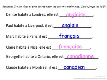 Nationalities in French (Basic Intro to Vocab, Agreement): French Quick Lesson