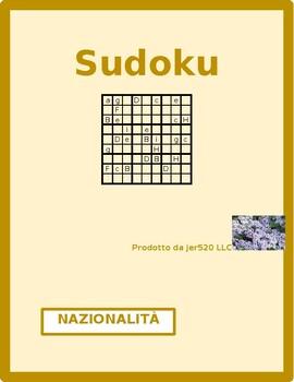 Nazionalità (Nationalities in Italian) Sudoku