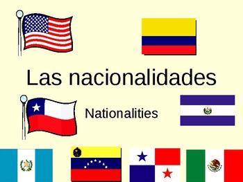 Nationalities in Spanish