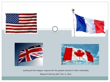 Nationality PowerPoint French 1