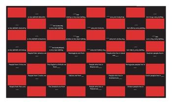 Nationality and Origin Checker Board Game