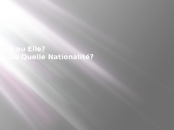 Nationality in French