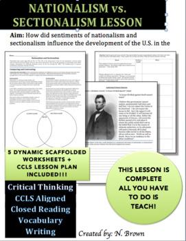 Nationalsim v. Sectionalism Lesson