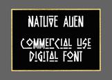 Native Alien Digital Font, .TTF File, Commercial Use OK, I