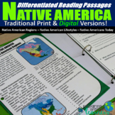 Native America Differentiated Reading Passages (Print & Di